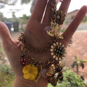Golden Floral Necklace